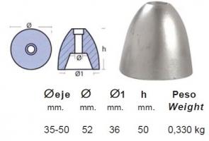 ANODO RIVA 52X50 MM.